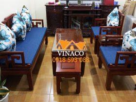 Ở Vinaco có rất nhiều các mẫu vải hoa xanh để phối màu cùng tông