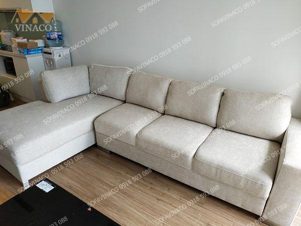Dịch vụ bọc ghế sofa của Vinaco đã thay đổi toàn bộ vỏ cho bộ ghế này