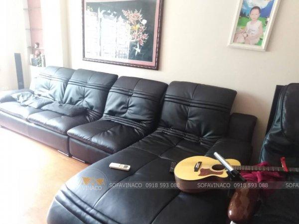 Bọc ghế sofa bằng chất liệu da cao cấp Microfiber