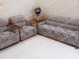Dịch vụ bọc ghế sofa vải hoa đã làm mới bộ ghế nhà cô Vân