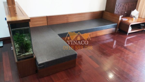 Mẫu đệm da màu đen sang trọng dành cho kiểu ghế sofa góc L