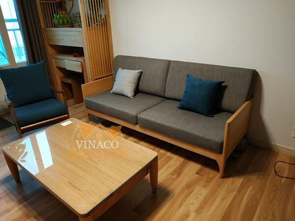 Bộ đệm ghế đã được giao đến cho chị Diệp ở Nguyễn Văn Huyên, Cầu Giấy