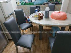 Dịch vụ bọc đệm ghế ăn của Vinaco đã thay đổi bộ ghế ăn tại Hoàng Hoa Thám