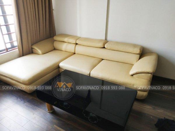 Bộ ghế đã được tân trang lại hoàn toàn nhờ dịch vụ bọc lại ghế sofa da tại Phạm Văn Đồng của Vinaco