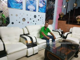 Dịch vụ bọc lại ghế sofa đã bọc mới bộ ghế sofa ở Lê Văn Thiêm, Thanh Xuân