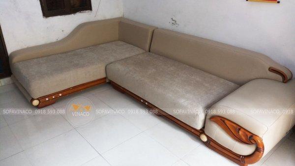 Làm đệm cho ghế sofa L đẹp