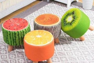 Đem lại sự mát mẻ tươi mới cho phòng khách bằng ghế hình hoa quả