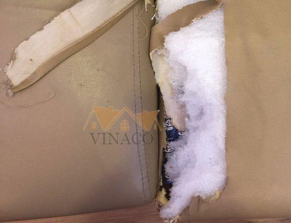 Đệm ghế sofa giá rẻ được làm từ PE giá rẻ và độn vỏ bao tải ngồn rõ nguồn gốc
