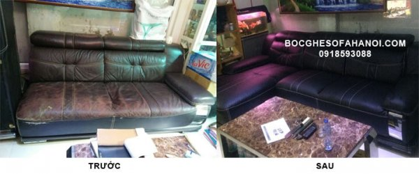 Giá bọc ghế sofa vải, da là khác nhau