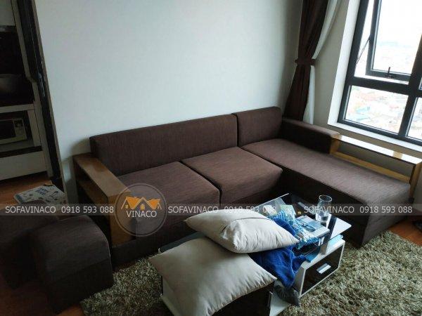 Công trình bọc ghế sofa tại chung cư Green Star Phạm Văn Đồng