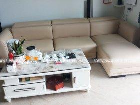 Bọc lại ghế sofa với chất da công nghiệp đẹp căng mịn