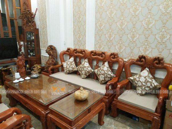 Bộ đệm ghế gỗ đồng kỵ đa làm cho gia đình ở Hà Trung, Hoàn Kiếm