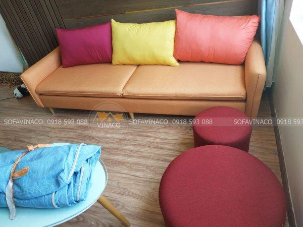 Bộ ghế sofa sau khi bọc lại bằng dịch vụ bọc ghế phong thủy