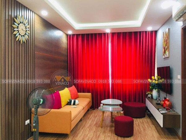 Hình ghế và phòng khách do chị dung chụp gửi về cho Vinaco