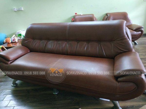 Dịch vụ bọc lại mặt ghế sofa đã thay đổi bộ ghế ở chung cư An Lạc, Hà Đông