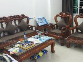 Bộ đệm ghế gỗ giả cổ cho anh Dương ở Lương Khánh Thiện, Hoàng Mai