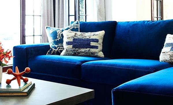 Bộ ghế sofa màu xanh navy nhẹ nhàng, ưa nhìn