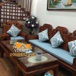 Đệm ghế gỗ Đồng Kỵ do Vinacosản xuất riêngcho khách hàng