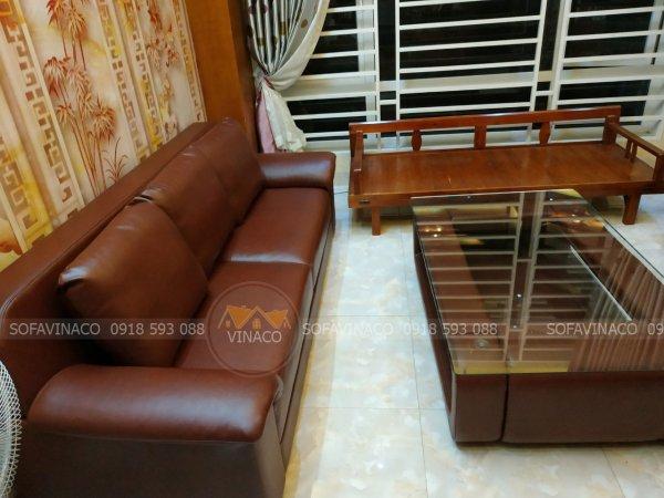 Chất da màu nâu rất phổ biến dùng bọc bàn ghế sofa