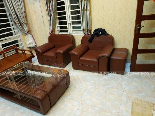 Thợ bọc ghế với tay nghề cao giúp cho bộ ghế sofa sau khi bọc căng đều bóng đẹp