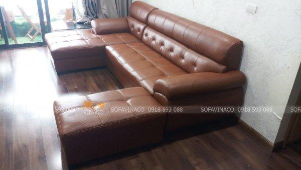 Bọc ghế sofa da chị Linh ở Văn Quán, Hà Đông