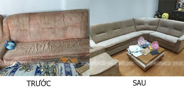 Làm mới bộ sofa với chi phí thấp hơn nhiều so với mua mới