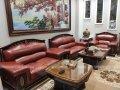 Công trình bọc lại ghế sofa da màu đỏ tại Dương Nội, Hà Đông