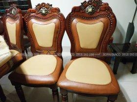 Bộ ghế ăn ở Long Biên đã được bọc lại bằng bộ vỏ mới