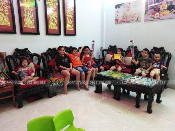 Bộ đệm ghế mới rất được trẻ con yêu thích