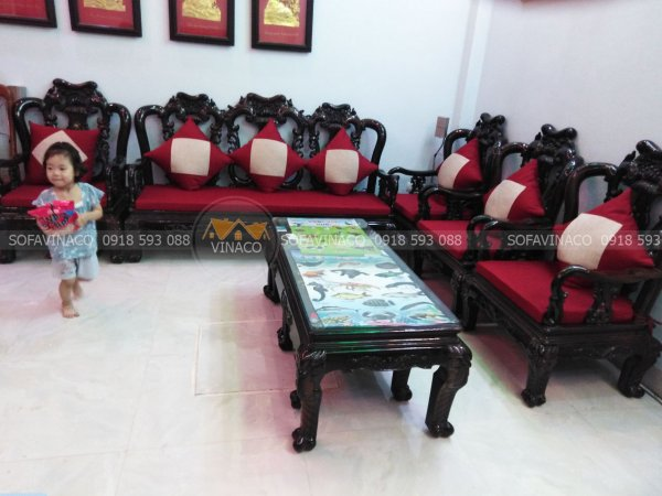 Bộ đệm ghế ghế đồng kỵ đã được giao cho gia đình khách hàng ở Tân Hội