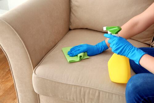 Sử dụng công cụ tẩy rửa phù hợp cho sofa nhà bạn