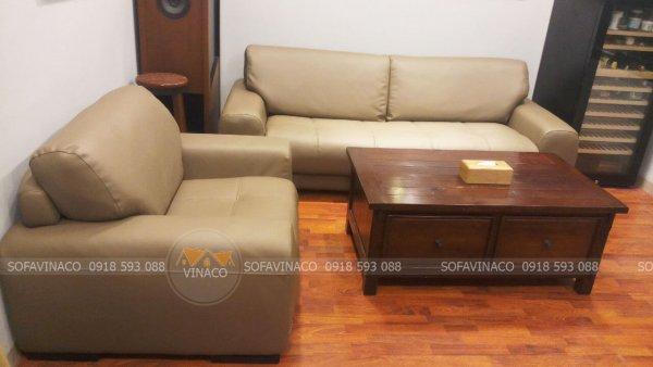 Dịch vụ bọc lại da ghế sofa của Vinaco đã đổi mới hoàn toàn bộ ghế sofa nhăn nheo trước đó