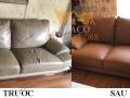 So sánh sự khác nhau trước và sau khi bọc lại của bộ ghế