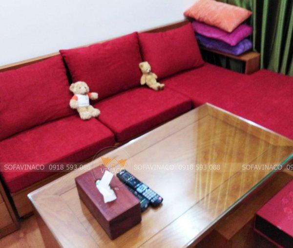 Đệm ghế làm từ bông ép và gối tựa bằng bông