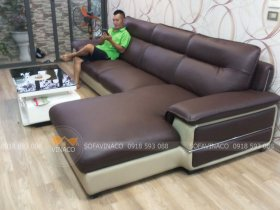 Công trình bọc ghế sofa da tại Linh Đàm đã được hoàn thành xuất sắc