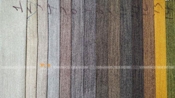 Bảng màu của mẫu vải K20 chuyên dùng cho bọc ghế sofa và làm đệm ghế