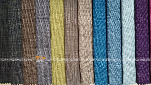 Các màu của mẫu vải thô dùng bọc ghế sofa, đệm ghế mã TM-02