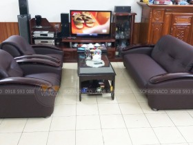 Làm mới ghế sofa rách da bằng dịch vụ bọc ghế sofa da của Vinaco