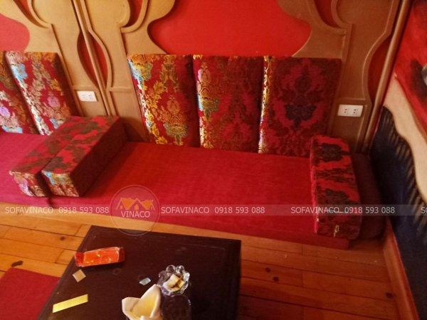 Lớp vỏ đệm ghế mới bằng vải gấm thêu kim tuyến
