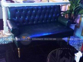 Ghế sofa được bọc lại bằng da
