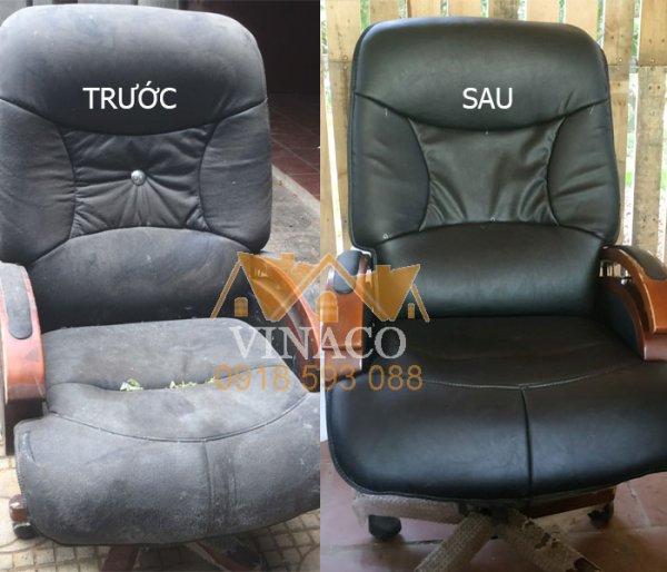 Dịch vụ bọc ghế giám đốc, ghế văn phòng của Vinaco đã hoàn thành xuất sắc công trình này