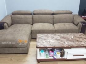 Bọc lại ghế sofa bằng vải nỉ đã được hoàn tất