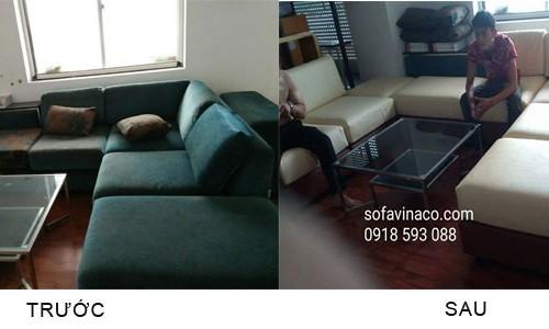 Bọc ghế sofa tại đường Trần Thái Tông - Cầu Giấy -Hà Nội