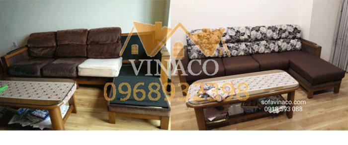 Bộ sofa được bọc lại cho khách hàng ở Xuân Thủy, Cầu Giấy