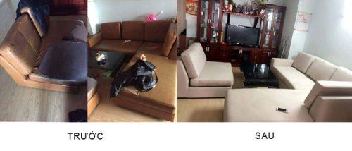 Bọc ghế sofa tại khu đô thị Fodacon - Bắc Hà