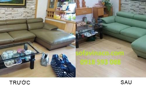 Bọc ghế với vải nỉ tại khu đô thị Xa La - Hà Đông