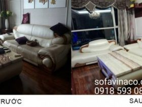 Bọc lại ghế sofa da tại Keangnam - Mễ Trì - Hà Nội