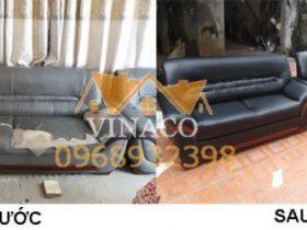 Công trình bọc ghế sofa da tại Đan Phượng