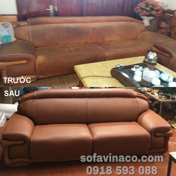 Bộ ghế sofa cũ đã bọc lại Hải Dương