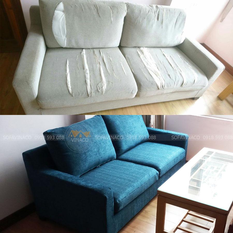 Công trình bọc ghế sofa tại Ông Ích Kiêm, Ba Đình, Hà Nội